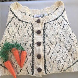 L.a.m.b. Cream Cropped sweater cardigan